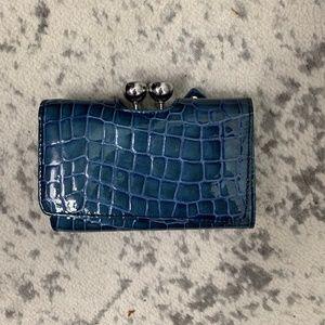 Ted Baker Teal Alligator Embossed Wallet
